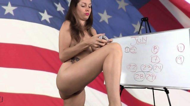 Крутая американка в белом нижнем белье